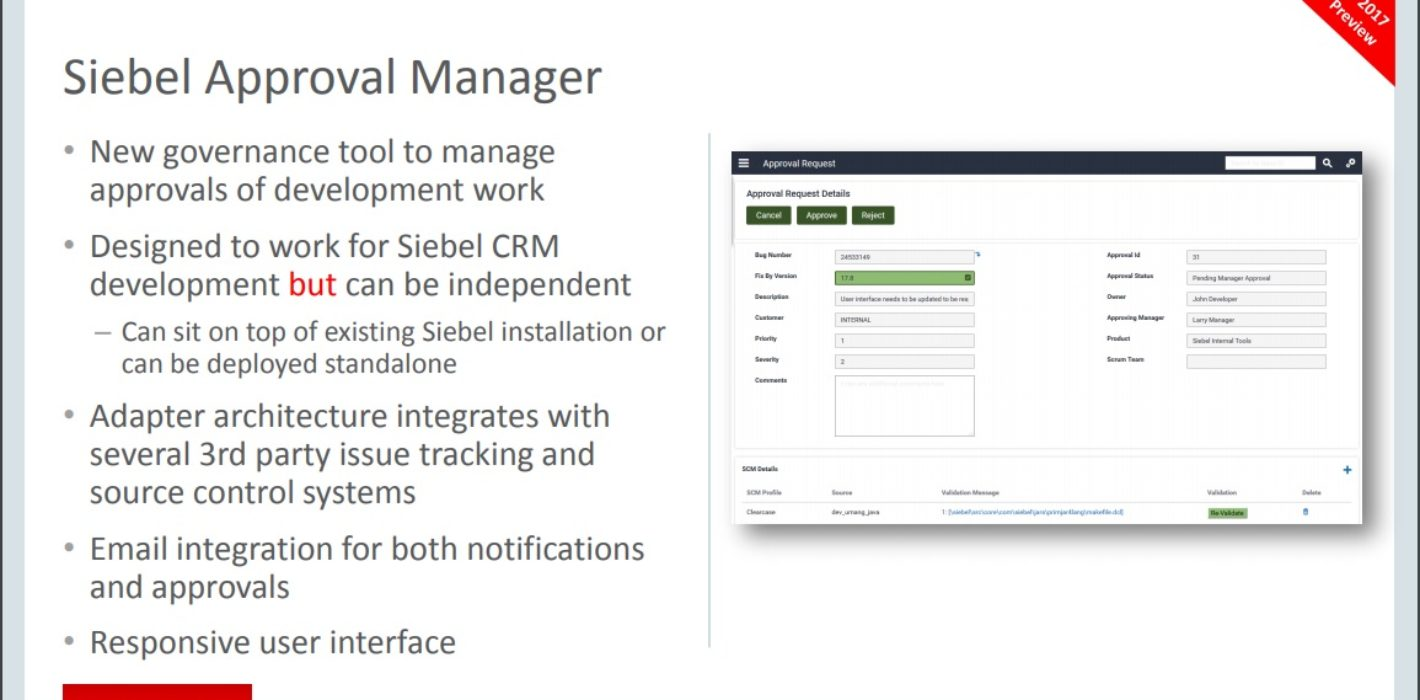 Siebel Approval Manager